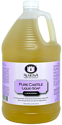 La Almona - Pure Castile Liquid Soap (Lavender), 1 Gallon