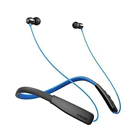 Anker Sound Buds Lite Bluetooth Headphones, Wireless Lightweight Neckband Headset, Ipx5 Water Resistant Sport Earbuds With Noise Cancelling And Built In Mic(Blue) by Amazon