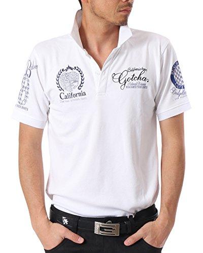 [ガッチャ ゴルフ] GOTCHA GOLF ポロシャツ 疎水 ドライ ベーシック ラメ シャツ 182GG1206 ホワイト XXLサイズ