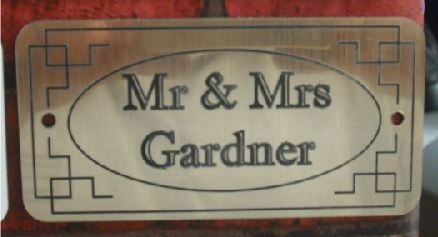 COPPER DOOR NAMEPLATE SIGN ENGRAVED PERSONALISED LDP68 100mm X 50mm FREE DELIVERY 1stclassgifts.co.uk