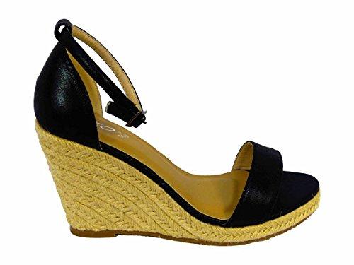 Femme Sandales Black SKO'S pour 4428 qPEawFpRx