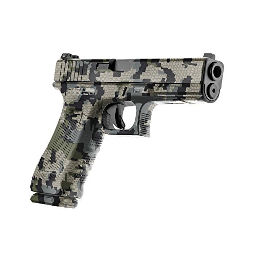 GunSkins Pistol Skin Camouflage Kit DIY Vinyl Handgun Wrap with precut Pieces (Kuiu Verde 2.0)