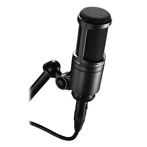 - Audio-Technica AT2020 Cardioid Condenser Studio XLR Microphone, Black