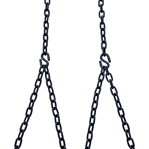 Barn-Shed-Play Heavy Duty 700 Lb Porch Swing Black Hanging Chain Kit (8 Foot Ceiling) by Barn-Shed-Play