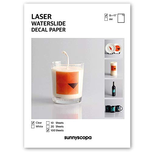 Sunnyscopa Waterslide Decal Paper for LASER Printer