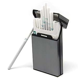 Pantheraa Cigarrillos Caso Ligero Aluminio Plata Caja de Cigarrillos Cigar Funda Protectora