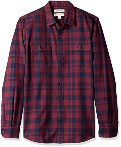 Amazon Brand - Goodthreads Men's Slim-Fit Long-Sleeve Plaid Twill Shirt
