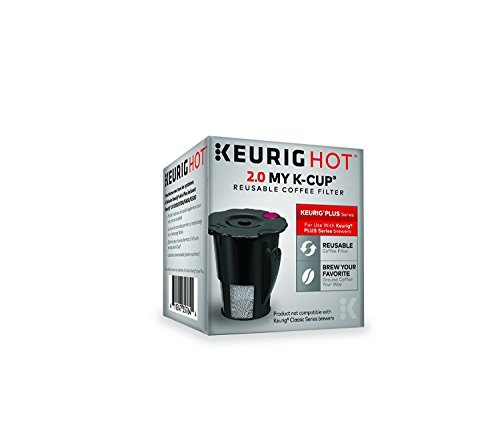 (Keurig 2.0 My K-Cup Reusable Ground Coffee Filter, Compatible with All  2.0 Keurig K-Cup Pod Coffee Makers)