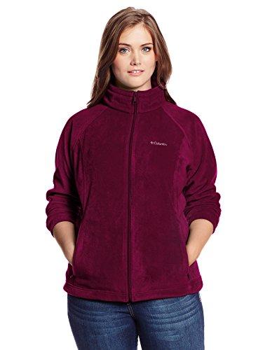 Columbia Women's Plus-Size Benton Springs Full-Zip Fleece Jacket XXXXL Dark Raspberry