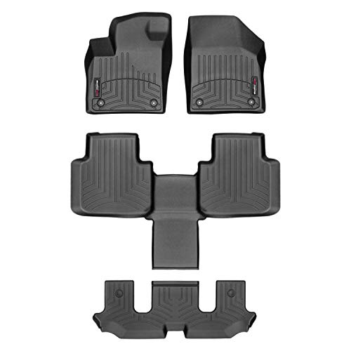 Weathertech FloorLiner for VW Atlas Bucket Seats 2018 1st 2nd 3rd Row Black