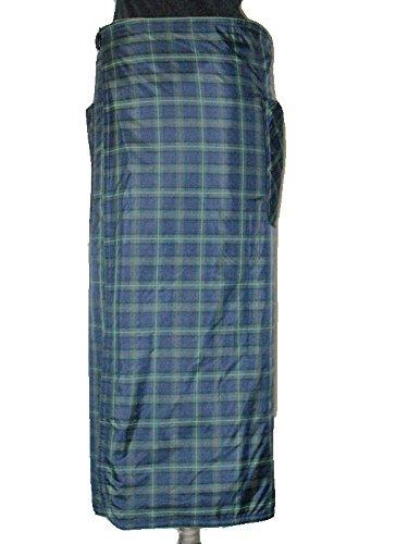 csf 防寒用巻きエプロンあったかロンジー(男女兼用) B00O4P0WOQ L~LL(長さ900mm 幅155mm)|チェック 紺×グリーン チェック 紺×グリーン L~LL(長さ900mm 幅155mm)