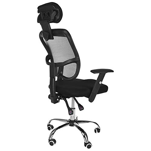 Executive Computer Office Home Task Adjustable Swivel Chair Stool with Arms,Breathable Mesh,Ergonomic Headrest and Lumbar Support(Ship from US!) by Toxz office products (Image #5)