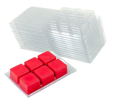 Premium Clear Plastic Wax Melt Clamshells (100)