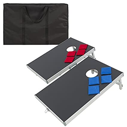 Charmant Best Choice Products Portable Aluminum Cornhole Bean Bag Toss Game Set  W/Carrying Case