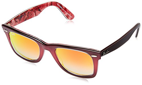 Ray-Ban WAYFARER - TOP GRAD PINK ON BROWN Frame MIRROR GRADIENT RED Lenses 50mm - Lens Red Pink Gradient Frame
