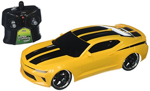 Jada 98728 Toys Hyperchargers 1: 16 Big Time Muscle R/C '16 Chevy Camaro Ss Vehicle, 1/16 Scale, Yellow With Black Stripes ()