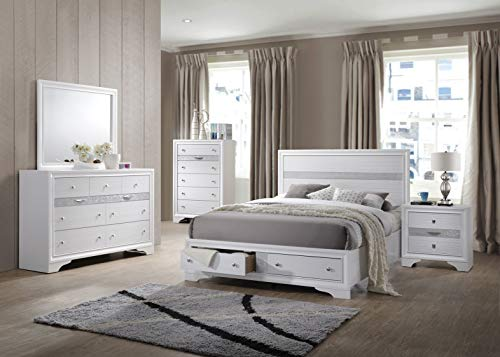 Kings Brand Furniture - 6-Piece - Watson King Size Bedroom Set. Bed, Dresser, Mirror, Chest & 2 Night Stands (Set Furniture King Bedroom)