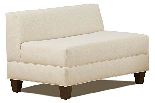 Carolina Accents CA5003-DDASH Makenzie Armless Loveseat, Ash