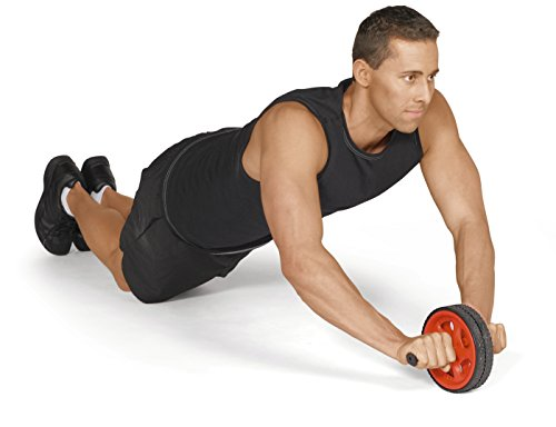 Valeo Ab Roller Wheel, Exercise And Fitness Wheel With Easy Grip Handles For Core Training And Abdominal Workout, VA2413RE