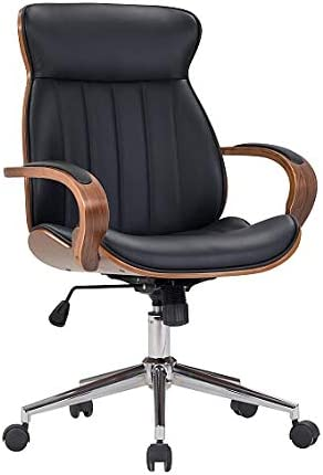 IDS Home Contemporary Walnut Wood Executive Swivel Ergonomic