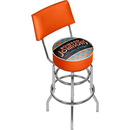 Howard Johnson Checkered Padded Swivel Bar Stool with Back Review
