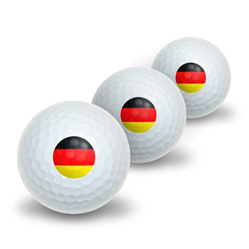 German Germany Flag Novelty Golf Balls 3 Pack by Graphics and More