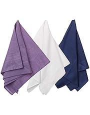 Y&G - Pack de 3 pañuelos de algodón para hombre