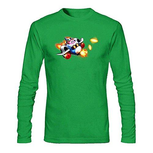 SAMMA Men's Kirby Planet Robobot Long Sleeve T Shirt