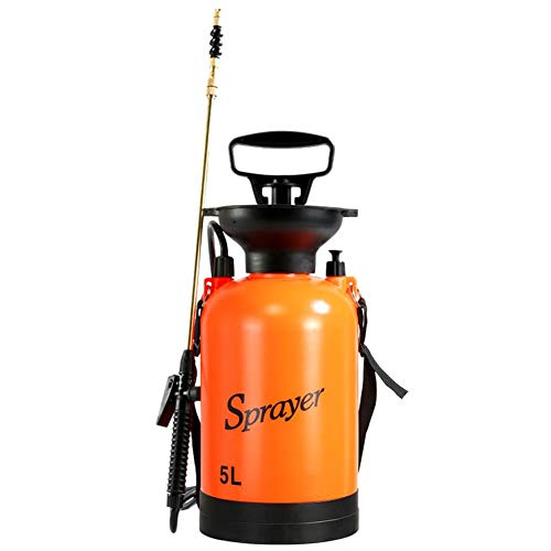 Yard and Garden Pressure Sprayer,cherrrysong Spray Bottle 3/5L Hand Pump Pressure Sprayer,for Lawn and Garden,for Herbicides,Fertilizers,Mild Cleaning Solutions and Bleach,Includes Shoulder Strap ()