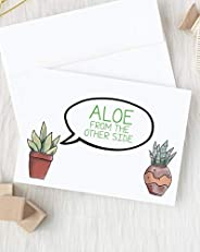 Social Distancing Card | Card for Friend | Long Distance Hug | Friendship Gift | Thinking of You | Succulent C