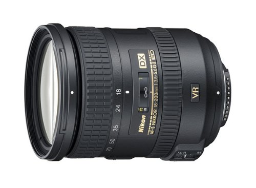 Nikon 18-200mm f/3.5-5.6G AF-S ED VR II Nikkor Telephoto Zoom Lens for Nikon DX-Format Digital SLR Cameras