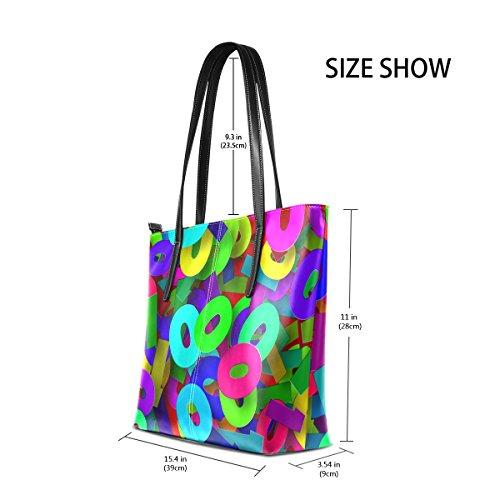 Women's Bags Digits Bennigiry Shoulder Purse Binary Large Top Handle Tote Satchel Handbags waa6zqdO