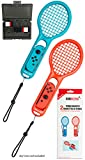Tennis Racket Twin Pack Compatible with Nintendo Switch Joy-Con Controllers for Mario Tennis
