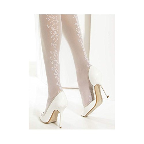 Conte Glory Women's Wedding Bridal Floral Patterned Pantyhose - Ivory, Large by Conte elegant