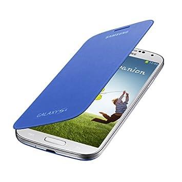 Samsung Flip - Funda para móvil Galaxy S4 (Con tapa, protección del terminal, sustituye a la tapa trasera), azul claro
