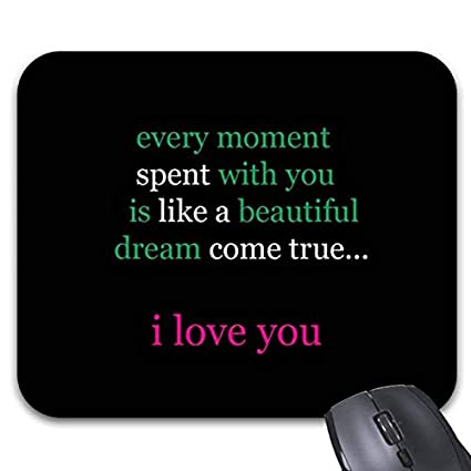 Image of: Sayings Image Unavailable Amazoncom Amazoncom Cute Romantic Love Quotes On Black Mouse Pads Stylish