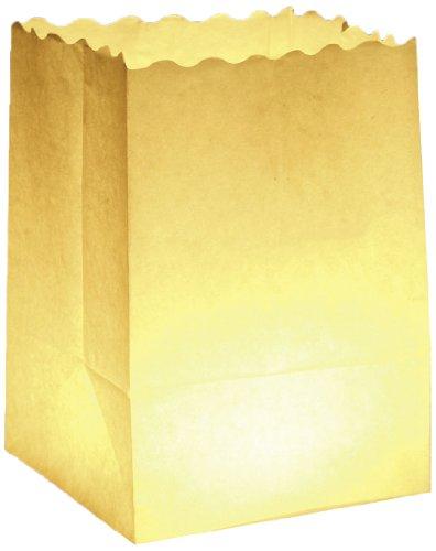 Wenko 8554100 Lichtertüte LUMINARIA Uni klein - 10er Set, Windlicht, Pappe/Papier/Zellstoff, 11 x 16 x 9 cm, Weiß