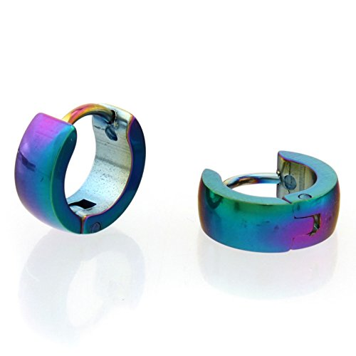 YARUIE Punk Gothic stainless steel Hoop Earring Multicolor