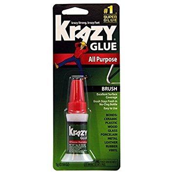Krazy Glue KG92548R Instant Krazy Glue 0.18-Ounce All Purpose Brush - Pack of 6 by Krazy Glue K