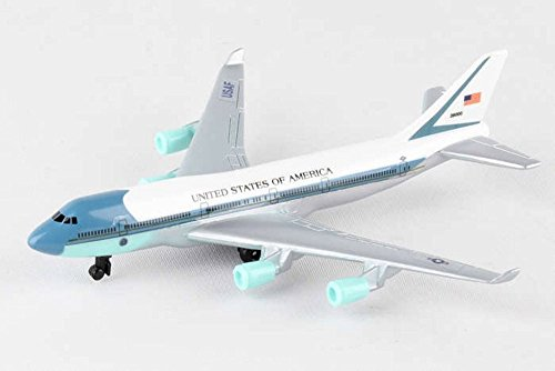 Showcasts Air Force One Single Plane, White - Daron RT5734 - Diecast Model Airplane Replica ()