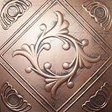 "Ceiling Tile - Faux Like Tin - Anet Antique Copper Graphite 20x20"""