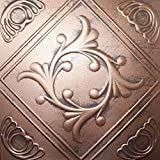 Ceiling Tile - Faux Like Tin - Anet Antique Copper Graphite 20x20
