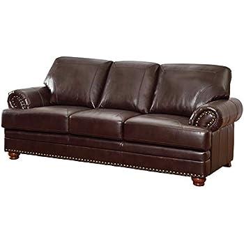 Cool Amazon Com Furniture Of America Carson Leather Loveseat In Ibusinesslaw Wood Chair Design Ideas Ibusinesslaworg