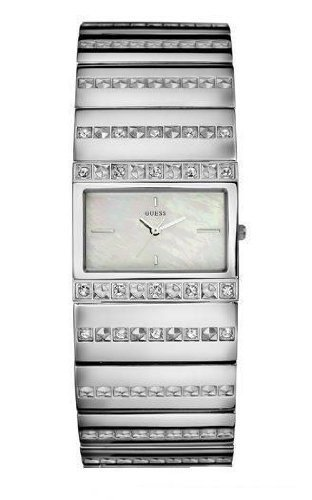 Guess Mother-Of-Pearl Silver Bracelet Ladies Watch - W95006L1