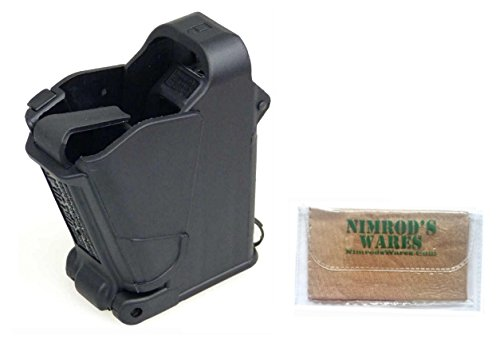 Nimrod's Wares Maglula UpLULA Speed Loader Universal Pistol 9mm-45 ACP UP60 Microfiber Cloth (Black)