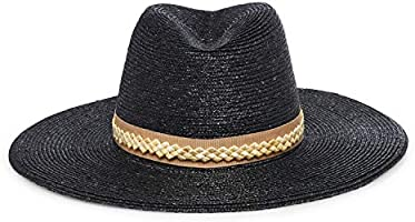 GIGI BURRIS Millinery Jeanne Straw Hat | Black and Camel