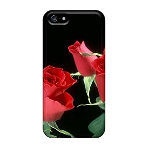 PC Case For Samsung Galaxy S5 Cover Strong Protect CaRed Roses Wide Design