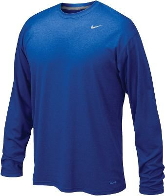 Nike Mens Legend Poly Long Sleeve Dri-Fit Training Shirt Game Royal Blue/Matte Silver 384408-493 Size Small