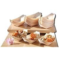 Barcos de madera de bambú x100 para los