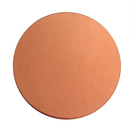 6 Round Circle Copper 1.5 Inch Metal Stamping Blank 24 Gauge by Craft Making Shop